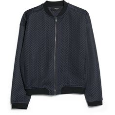 Textured Bomber Jacket ($27) ❤ liked on Polyvore featuring outerwear, jackets, tops, coats & jackets, textured jacket, herringbone jacket, zipper jacket, zip bomber jacket and mango jackets