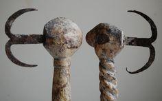West African Art   Heviosso Wands