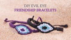 DIY Evil Eye Macramé Friendship Bracelets | Curly Made