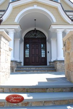 Welcome home. Custom Wood Doors, Front Entrances, Garage Doors, Outdoor Decor, Pictures, Home Decor, Photos, Interior Design, Home Interior Design