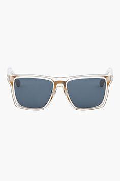 KRISVANASSCHE Transparent Encassed Frame Sunglasses