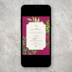 Botanical, digital, save the date Plan Your Wedding, Wedding Blog, Wedding Planner, Digital Invitations, Wedding Stationery, Save The Date, Wedding Inspiration, Dating, Studio
