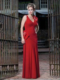 A-ligne V-cou robes demoiselle honneur en tullle - Robes de Mariage Boutique