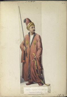 Infantry captain (Janissary). The Vinkhuijzen collection of military uniforms / Turkey, 1818. See McLean's Turkish Army of 1810-1817.
