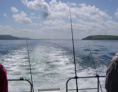 Leaving Loch Ryan in the South-West of Scotland behind and heading out on to the open sea on a boat fishing trip