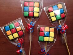 80s Birthday Parties, 11th Birthday, Cube Decor, Puzzle Party, Iced Cookies, Cookie Designs, Cubes, Cookie Decorating, Party Time