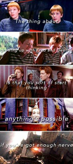 I love Fred and George. They're two of my favorite characters.