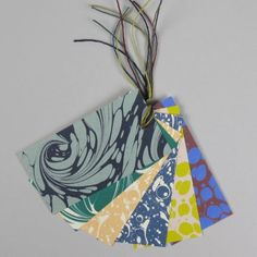 Esme Winter Pack Of 6 Marbled Gift Tags - Trouva