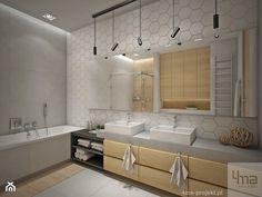 Dom 310 m2. - Średnia łazienka na poddaszu w bloku w domu jednorodzinnym bez okna, styl nowoczesny - zdjęcie od 4ma projekt