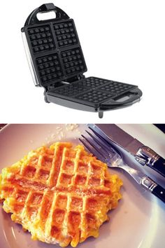 Instead of Waffles...    Change the way you eat mac 'n' cheese by putting it in the waffle iron. Has to be the BEST idea I've EVER seen!!! Love me some mac & cheese