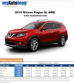 Need a new family friendly car? Look no further! Finance the 2014 Nissan Rogue now at www.myautoloan.com
