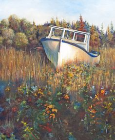 Big John's old fishing boat in the Evangeline Acadian region on Prince Edward Island. Acadie, Prince Edward Island, Fishing Boats, Paintings, Big, Pictures, Ideas, Photos, Paint