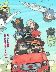 Akatsuki on a ride