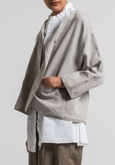Oska Linen Talida Jacket in Natural 220bc9695