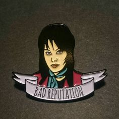 2 PACK Joan Jett inspired Enamel Pin Badge  Limited Edition