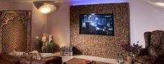 Ein neues Fernseher-Feeling aufkommen lassen? Kein Problem, mit einer tollen TV-Holzmosaik- Wand können Sie das. Torsten Müller Consulting Interior-Design Flat Screen, Interior Design, Television Set, Mosaics, Timber Wood, Blood Plasma, Nest Design, Home Interior Design, Interior Designing