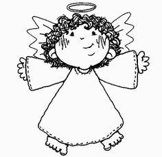 Dibujos y Plantillas para imprimir: Dibujos angelitos para imprimir 03