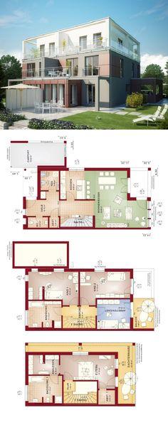 Doppelhaus Im Bauhausstil   Haus Celebration 131 V9 XL Bien Zenker    Fertighaus Mit Flachdach Bauen