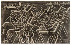 David Bomberg, Racehorses, 1913