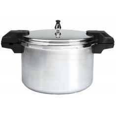 Mirro 92116 Polished Aluminum Dishwasher Safe Pressure Cooker Canner Cookware, Silver, Pressure Cookers, T-Fal Mirro Pressure Cooker, Electric Pressure Cooker, Pressure Cooking, Specialty Cookware, Steamer Recipes, Food Preparation, Cool Things To Buy, Dishwasher, Cooking