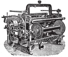 Cycle 2 Week 13 History. This is the power loom which was invented during the industrial revolution by Edmund Cartwright.