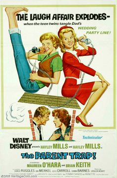 Best Film Posters : Walt Disney presents Haley Mills and Haley Mills in The Parent Trap - Dear Art Disney Films, Disney Movie Posters, Old Movie Posters, Classic Movie Posters, Classic Movies, Film Posters, Theatre Posters, Disney Cartoons, 1960s Movies