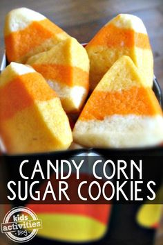 Make Candy Corn Sugar Cookies For Halloween