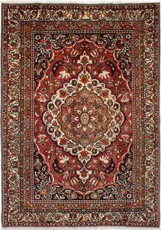 "7'9"" x 11'0"" Hand-knotted Bakhtiar"