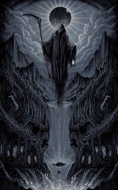 #reaper #death #angelofdeath #collector #traveler Death Reaper, Grim Reaper Art, Grim Reaper Tattoo, Arte Horror, Horror Art, Dark Fantasy Art, Dark Art Tattoo, Dark Souls Art, Satanic Art