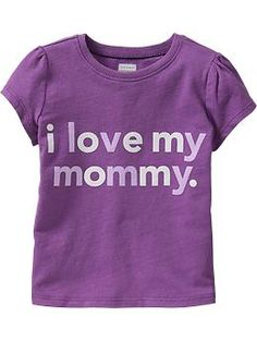 """HAPPY 2ND Birthday!!  Fun tees for the playground.   """"I LFun tees for the playground.  ove My Mommy"""" Tees for Baby 