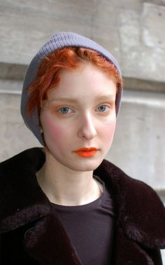 i have orange lipstick but I miss my red hair. by bethanieh