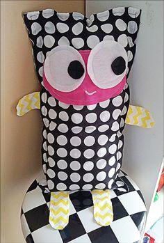 Matilda the Plush Monster Doll Pillow on Etsy, $30.00