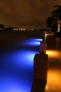 Create Your Own Fishing Pier with a Lumen Underwater Dock Kit from Water World LED - Blue, Green, White and the Only Color-Changing RGB LED Available! Marine Lighting, Dock Lighting, Sign Lighting, Camping In The Rain, Lake Dock, Underwater Lights, Solar Panel Kits, Cottages By The Sea, Hotel Decor
