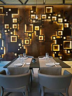 "Das ""Taiyo"" Sushi Restaurant in Mailand. Restaurant Taiyo Sushi Restaurant in Milan by Lai Studio Interior Design Examples, Bar Interior Design, Cafe Design, House Design, Design Ideas, Design Bar Restaurant, Restaurant Plan, Restaurant Lighting, Sushi Restaurants"