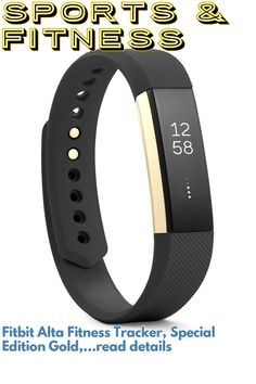 (This is an affiliate pin) Fitbit Alta Fitness Tracker, Special Edition Gold, Black, Small (US Version) Best Fitness Tracker, Fitbit Alta, Fun Workouts, Gold, Black, Black People, Yellow