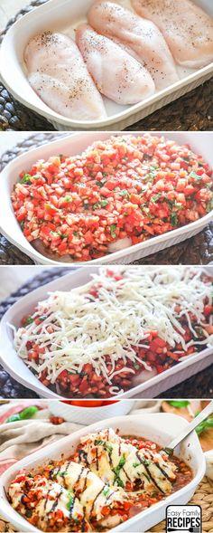 Bruschetta Chicken step by step recipe