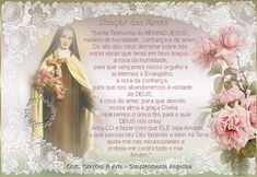 Resultado de imagem para oração de santa terezinha das rosas imagem