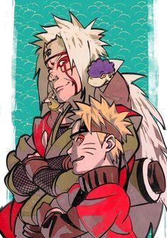 Jiraya and Naruto Sage Mode Anime Naruto, Naruto Shippuden Sasuke, Art Naruto, Naruto Drawings, Wallpaper Naruto Shippuden, Naruto Wallpaper, Naruto And Sasuke, Manga Anime, Man Wallpaper