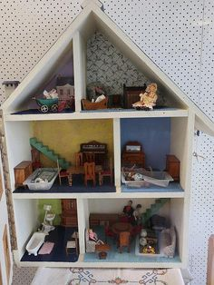 Vintage Dolls House with furniture