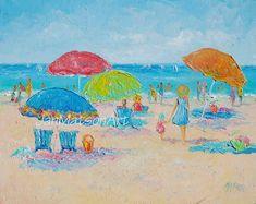 Beach Painting oil painting beach art beach decor by JanMatsonArt