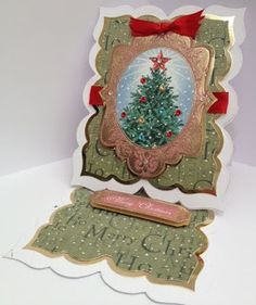 Kanban All Wrapped Up Christmas paper craft collection - foiled & die cut toppers with co-ordinating card.