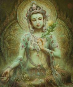 zeng-hao-green-tara-绿度母-paintings-oil-zoom-2
