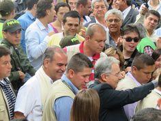 Inscripción de mi candidatura en compañía de los senadores Álvaro Uribe y Carlos Felipe Mejía