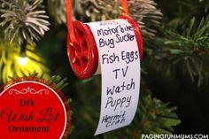 Adorable Christmas Wish List Ornament - Paging Fun Mums