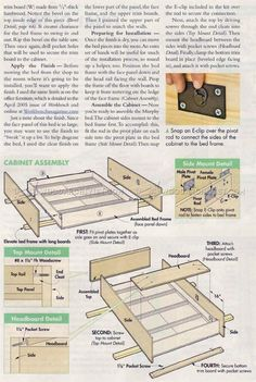 Murphy Bed Plans - Furniture Plans