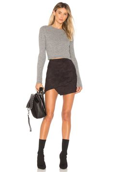 by the way. Saira Faux Suede Mini Skirt in Black  bcb7d7c38