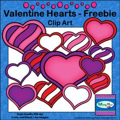 Valentine Hearts Clip Art - Freebie!