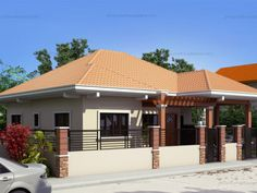 This is a 3-bedroom house plan that can fit in a lot with an area …