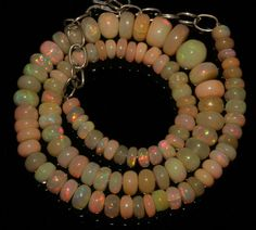 "72 CRT 5-9 MM 13""NATURAL ETHIOPIAN  WELO FIRE OPAL  RONDELLE BEADS NACKLACE 426"