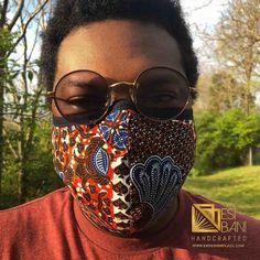 FABRIC FACE MASK, African Print Face Mask, Ankara Face Mask, 100% Cotton Washable Reusable Face Mask with Filter Pocket, Shaped Mask FM1005 Face Mask Set, Diy Face Mask, Homemade Mask, African Textiles, Pocket Pattern, African Design, Diy Mask, Fashion Face Mask, Ear Loop